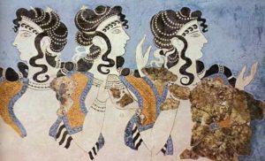 Dame di Cnosso (ovvero i tre volti della Dea) Palazzo di Cnosso XVI secolo a. C.